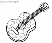 Free coloring and drawings Classical guitar Coloring page