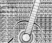 Free coloring and drawings Free Guitar Image Coloring page
