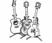 Free coloring and drawings Guitar online Coloring page