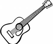 Free coloring and drawings Guitar picture Coloring page
