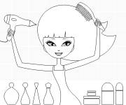 Coloring pages Hairstyle for girl
