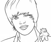 Coloring pages Justin Bieber Hair