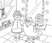 Coloring pages Woman hair salon