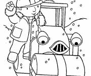 Coloring pages Bob the builder and Roulo
