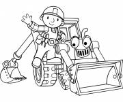 Coloring pages Bob the Builder and Scoop