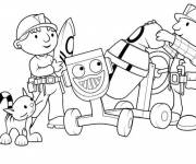 Coloring pages Bob the builder and Zoe