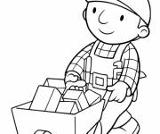 Coloring pages Bob the builder carries his tools