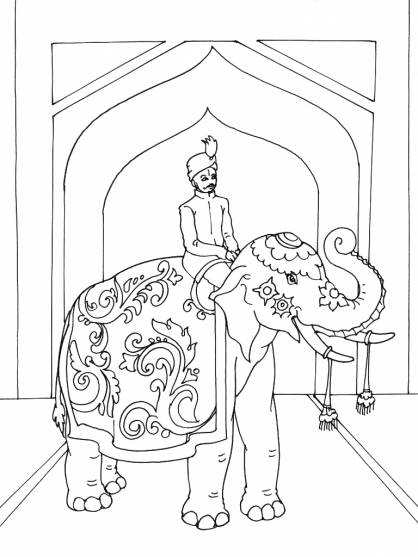 Free coloring and drawings A drawing of an Indian  Coloring page