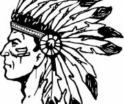 Free coloring and drawings American Natives Coloring page