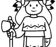Free coloring and drawings Easy indian Coloring page