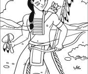 Free coloring and drawings Indian color Coloring page