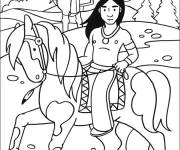Coloring pages Indian mother