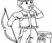 Free coloring and drawings Little American Indian Coloring page