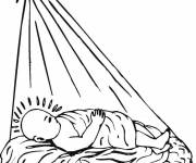 Coloring pages Baby Jesus