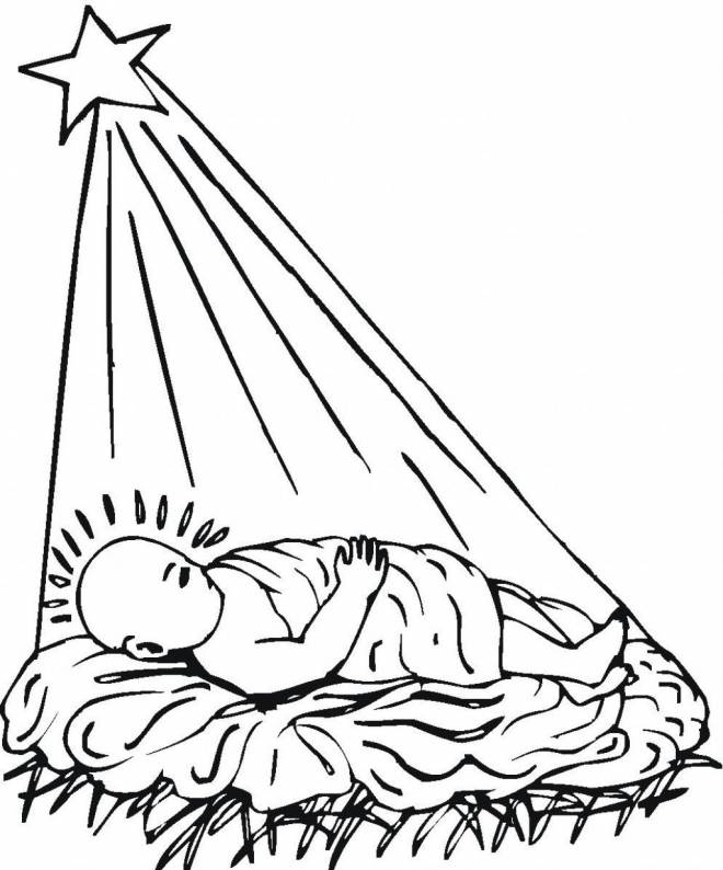 Free coloring and drawings Baby Jesus Coloring page