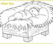 Coloring pages Baby jesus for kids