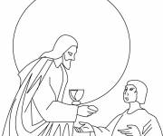 Coloring pages Color stylized jesus