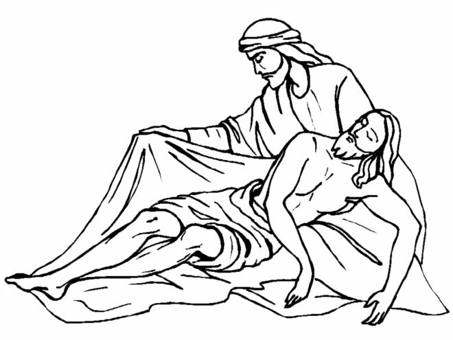 Free coloring and drawings Drawing of the Crucifixion of Jesus Coloring page