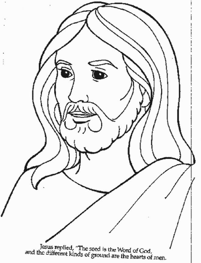 Free coloring and drawings Easy jesus Coloring page
