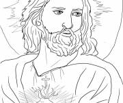 Coloring pages Face of jesus