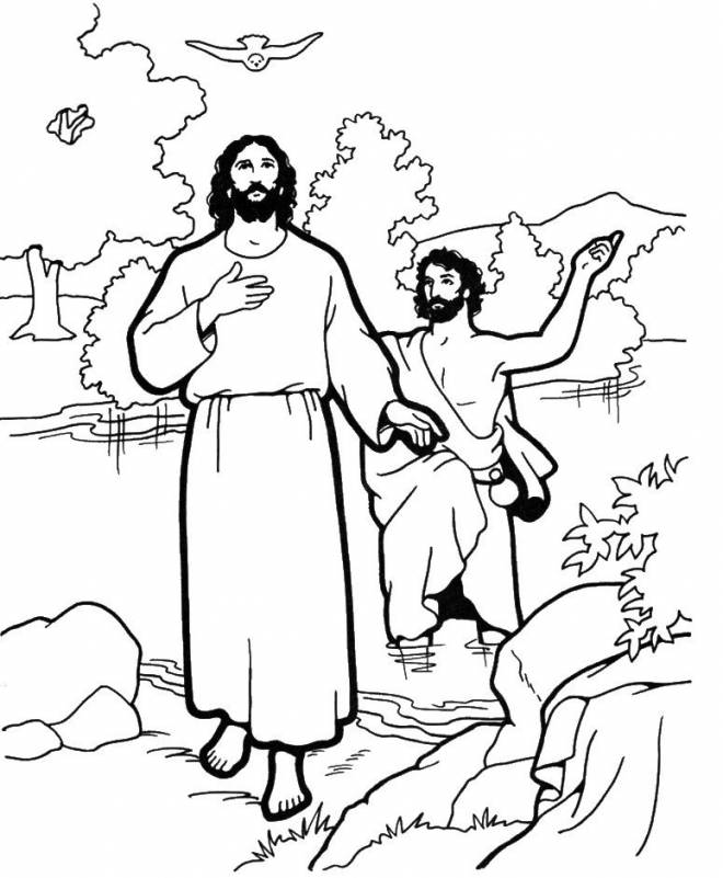 Free coloring and drawings Jesus and His Disciples in vector Coloring page