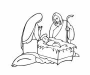 Coloring pages Jesus and mary