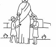 Coloring pages Jesus and the Little Ones