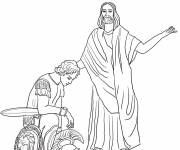 Coloring pages Jesus and the Roman Soldier