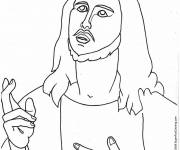 Free coloring and drawings Jesus christ Coloring page