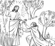 Free coloring and drawings Jesus christ cut out Coloring page