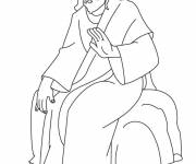 Coloring pages Jesus Christ to decorate