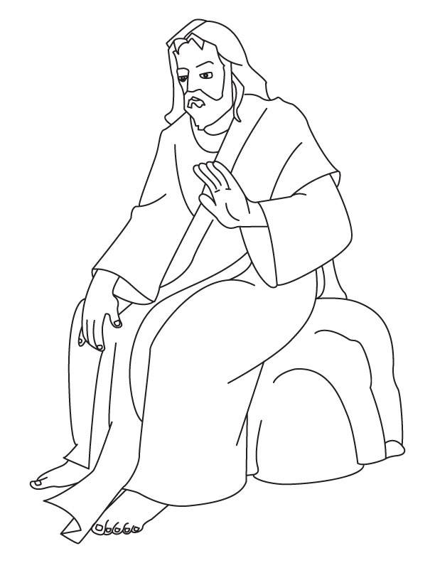 Free coloring and drawings Jesus Christ to decorate Coloring page