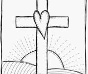 Coloring pages Jesus cross
