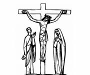 Coloring pages Jesus crucified Artistic