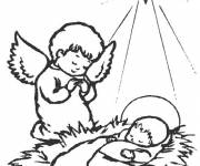 Coloring pages Jesus eating