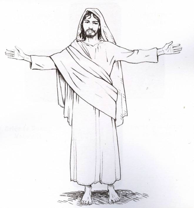 Free coloring and drawings Jesus in color Coloring page