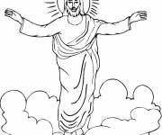 Coloring pages Jesus in Heaven