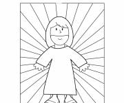 Coloring pages Jesus is my friend