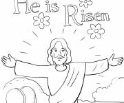Coloring pages Jesus is risen
