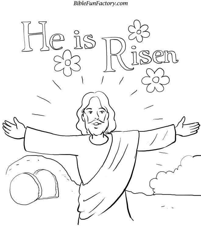 Free coloring and drawings Jesus is risen Coloring page