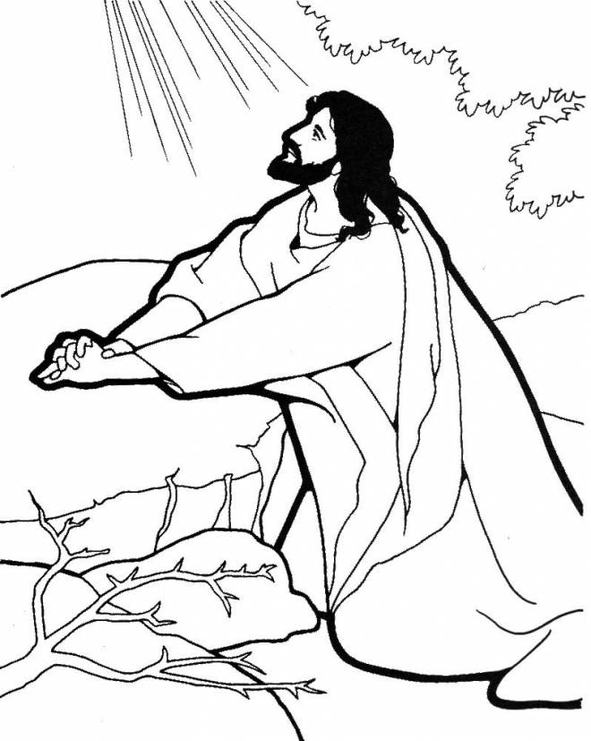 Free coloring and drawings Jesus of Nazareth addresses God Coloring page