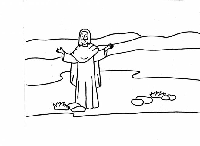 Free coloring and drawings Jesus Online Coloring page
