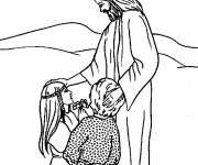 Coloring pages Jesus source of love