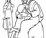 Coloring pages Jesus the Lord with a Child