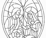 Coloring pages Joseph and Mary Church