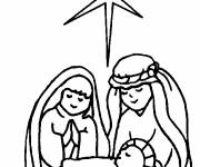 Coloring pages Little Jesus Catholicism