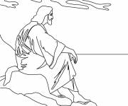 Coloring pages Meditation of jesus