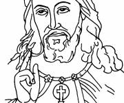 Coloring pages The Look of Jesus Christ