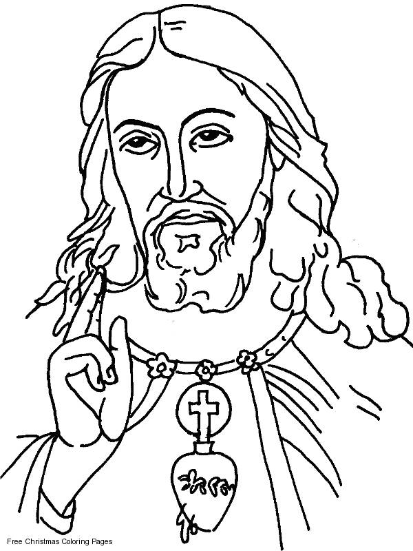 Free coloring and drawings The Look of Jesus Christ Coloring page