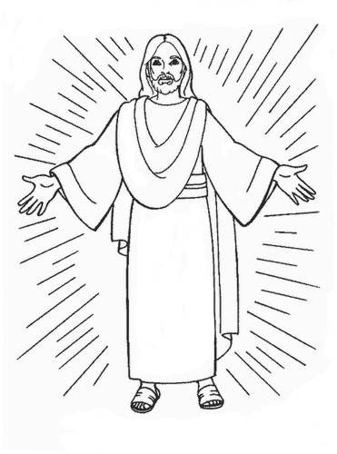 Free coloring and drawings the resurrection of Jesus to cut out Coloring page